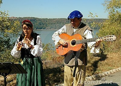 NYC: Troubadours at NY Renaissance Faire Editorial Stock Image