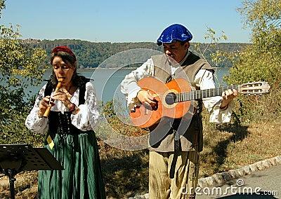 NYC: Troubadours at NY Renaissance Faire Editorial Stock Image