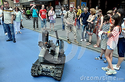 NYC: U.S. Army Robot Tank Editorial Image