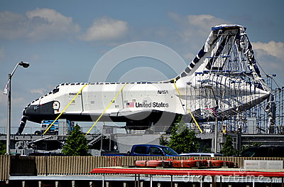 NYC: U. S. Space Shuttle Enterprise Editorial Stock Photo