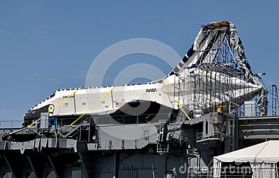 NYC:  U. S. Space Shuttle Enterprise Editorial Photo