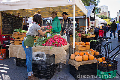NYC Union Square Greenmarket Editorial Image