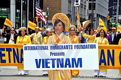 NYC:  Vietnamese Delegation at Parade Editorial Stock Photo