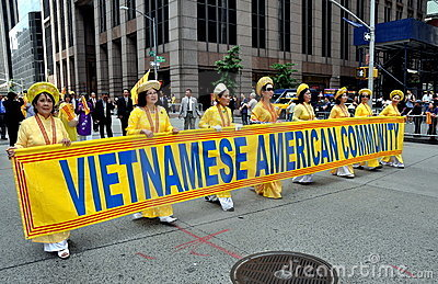 NYC; Vietnamese Marchers in Immigrants Parade Editorial Image