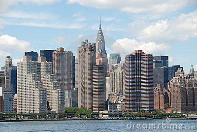 NYC: View of East Midtown Manhattan Skyline
