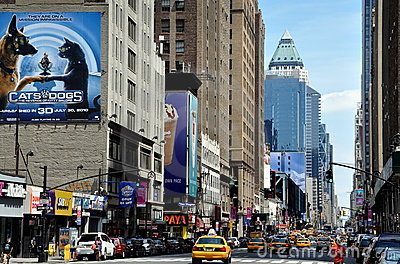 NYC: View of Eighth Avenue Editorial Stock Photo
