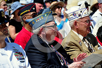 NYC: War Veterans at Memorial Day Ceremonies Editorial Stock Image