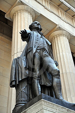 NYC:  Washington Statue at Federal Hall
