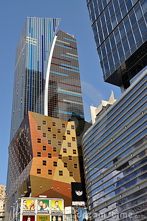 NYC: The Westin Hotel Times Square Tower Editorial Stock Image