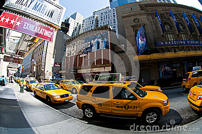 NYC yellow taxis Editorial Stock Image