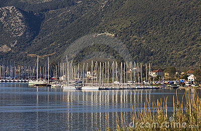 Nydri bay at Lefkada, Greece