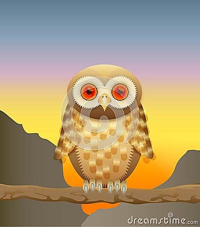 Nyfiken owl