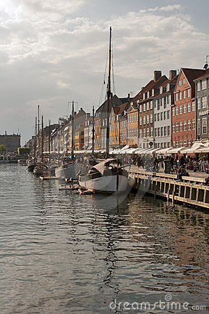 Nyhavn channel Editorial Stock Image