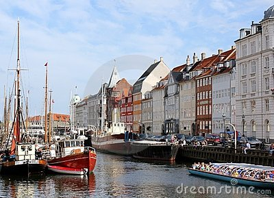 Nyhavn, Copenhagen Editorial Stock Photo