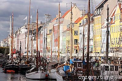 Nyhavn, Copenhagen, Denmark Editorial Photography