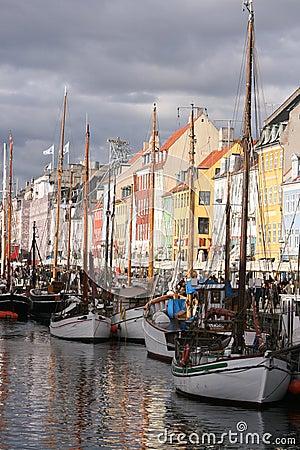 Nyhavn, Copenhagen, Denmark Editorial Image