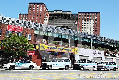 NYPD cars in Brooklyn, NY Editorial Photography