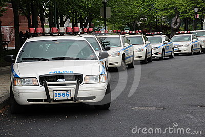NYPD cars in Manhattan Editorial Stock Photo