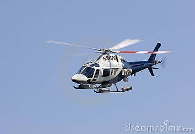 NYPD Helicopter Editorial Stock Photo