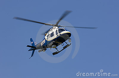 NYPD Helicopter Editorial Stock Image