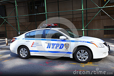 NYPD police car Editorial Stock Image