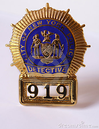 Nypd Police Detective Badge Royalty Free Stock Photography ...
