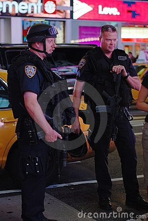 NYPD Police Officers on Times square Editorial Stock Photo