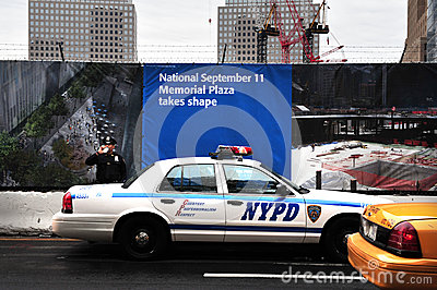 NYPD Secure the One World Trade Center site Editorial Stock Image