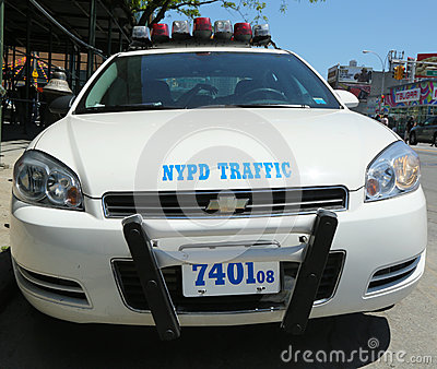 NYPD traffic control vehicle in Brooklyn, NY Editorial Stock Photo