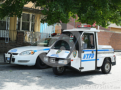 NYPD vehicles in Brooklyn, NY Editorial Photography