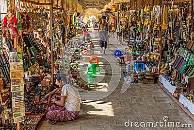 NZAUNG-U, MYANMAR - Street market Editorial Stock Image