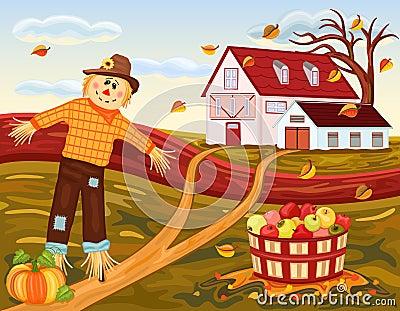 αγροτική συγκομιδή φθιν&o
