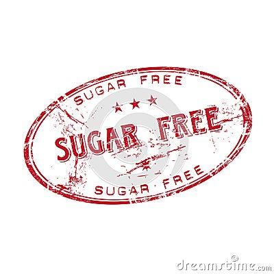 O açúcar livra o carimbo de borracha