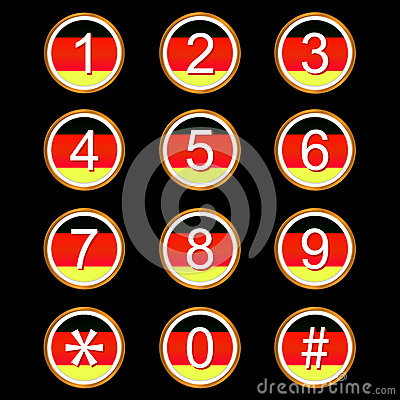 O alemão numera ícones