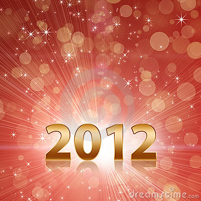 O ano 2012 comemora o fundo abstrato vermelho
