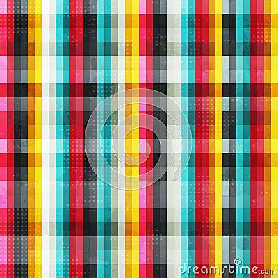 O arco-íris alinha o teste padrão sem emenda com efeito do grunge