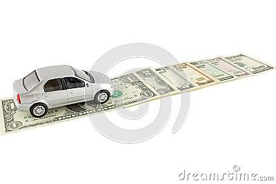 O automóvel e os dólares