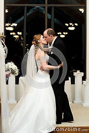 O beijo do casamento