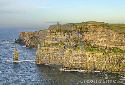 O Brien s Tower on Cliffs of Moher in Ireland.