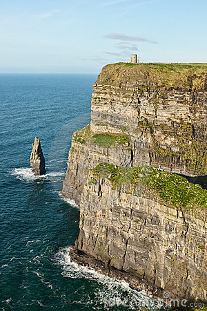 O Briens Tower on the cliffs of Moher in Ireland.