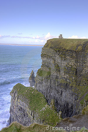 O Briens Tower on top of The Cliffs of Moher.