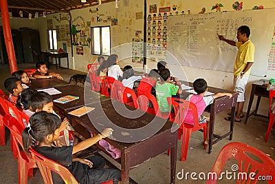 O Cambodian do projeto caçoa o cuidado Imagem de Stock Editorial