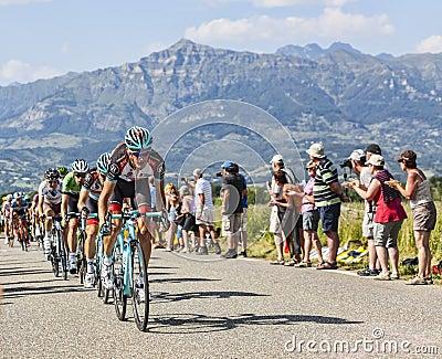 O ciclista Andy Schleck Imagem de Stock Editorial