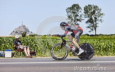 O ciclista Brent Bookwalter Imagem Editorial