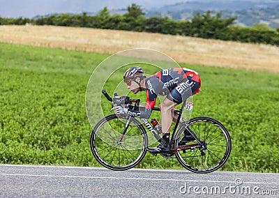 O ciclista Cadel Evans Imagem Editorial