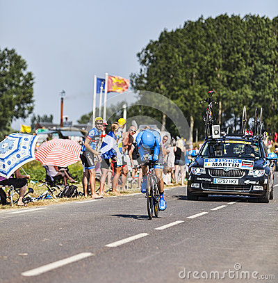 O ciclista Daniel Martin Foto Editorial