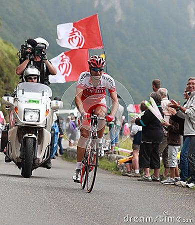 O ciclista David Moncoutie Foto Editorial