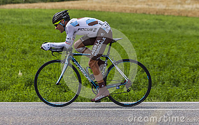 O ciclista Jean-Christophe Peraud Foto de Stock Editorial