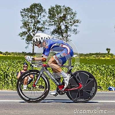 O ciclista Pierrick Fedrigo Foto Editorial