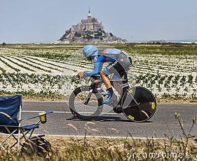 O ciclista Ramunas Navardauskas Imagem Editorial